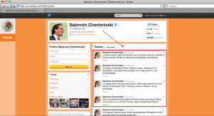 The tweets of Salomón Chertorivski, Mexican Minister of Health, about WSHD 2012