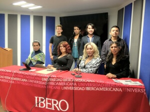 Antón Castellanos Usigli with transgender activists who participated at the Sexual Diversity Week at the Ibero.